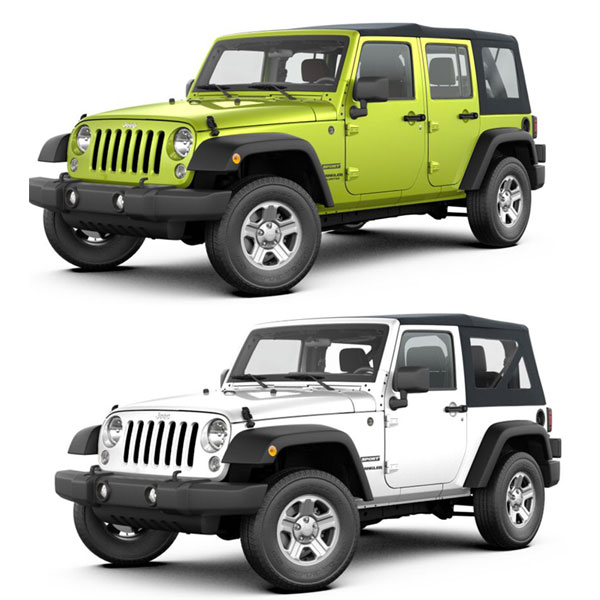 2007-2017 Jeep Wrangler JK 2 and 4 Doors