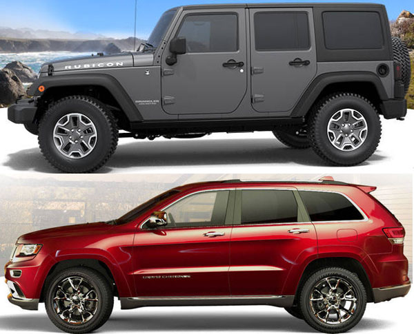 2015 Jeep Wrangler and Jeep Cherokee