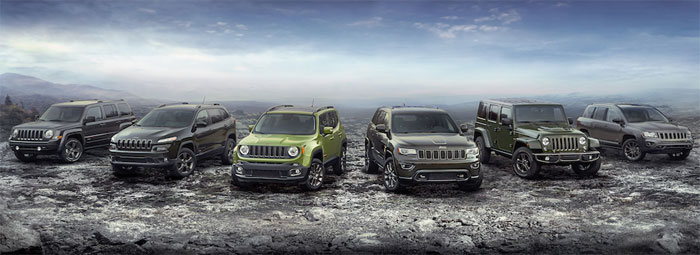 75th Anniversary Special Edition Jeep Models
