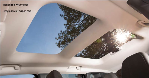 Jeep Renegade MySky Roof Pannels