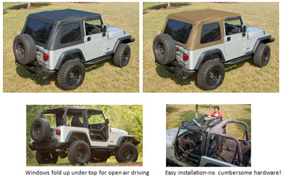 Bowless Soft Top For 97 06 Wranglers Jeep Parts Blog