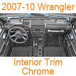 2007-10 Wrangler Interior Trim Chrome
