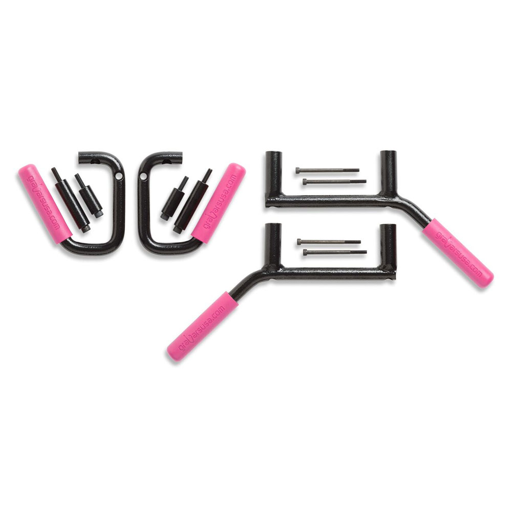 Front and Rear GraBars, Pink, 07-18 Jeep Wranglers 2 Doors