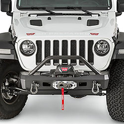 Jeep Wrangler JL Warn Stubby Front Bumper with Tube