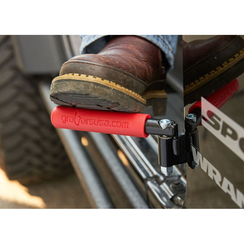 GraBar BootBars (Foot Pegs), Red, 07-16 Wrangler