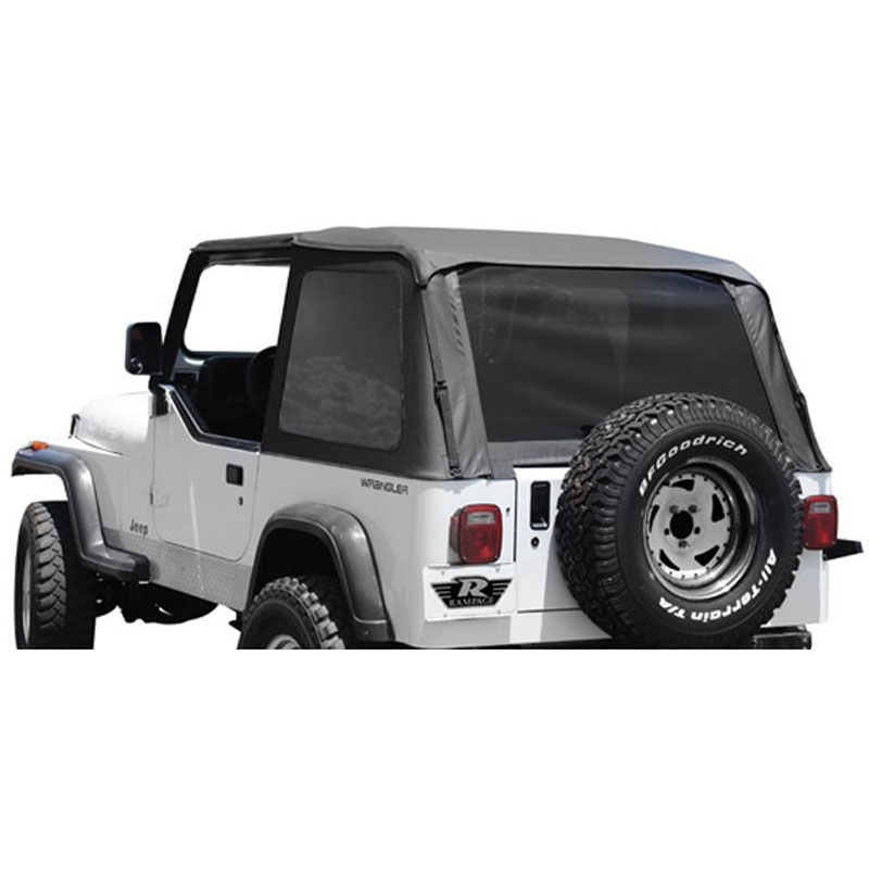 Frameless Trail Top with Tinted Windows, Black Diamond, 92-95 Wranglers