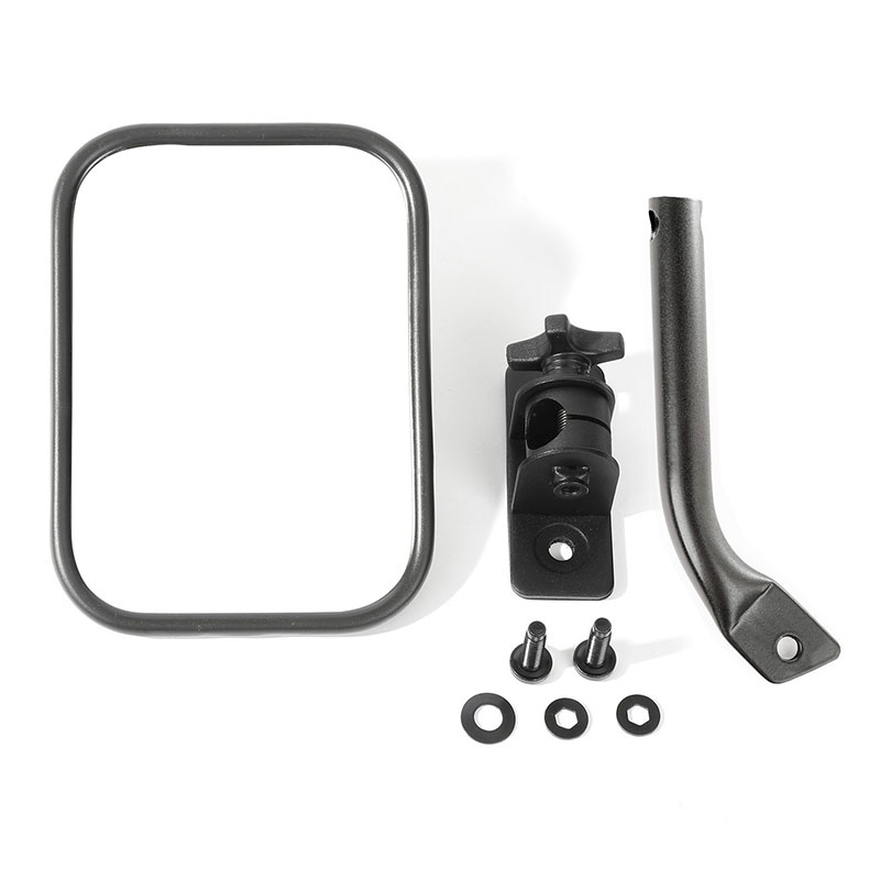97-17 Wrangler Stubby Trail Mirror, Rectangular