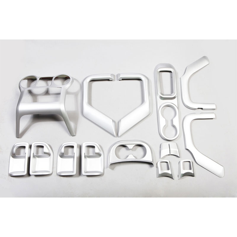 Interior Trim Accent Kit 11-18 Wranglers 4 Doors Manual Trans, Brushed Silver