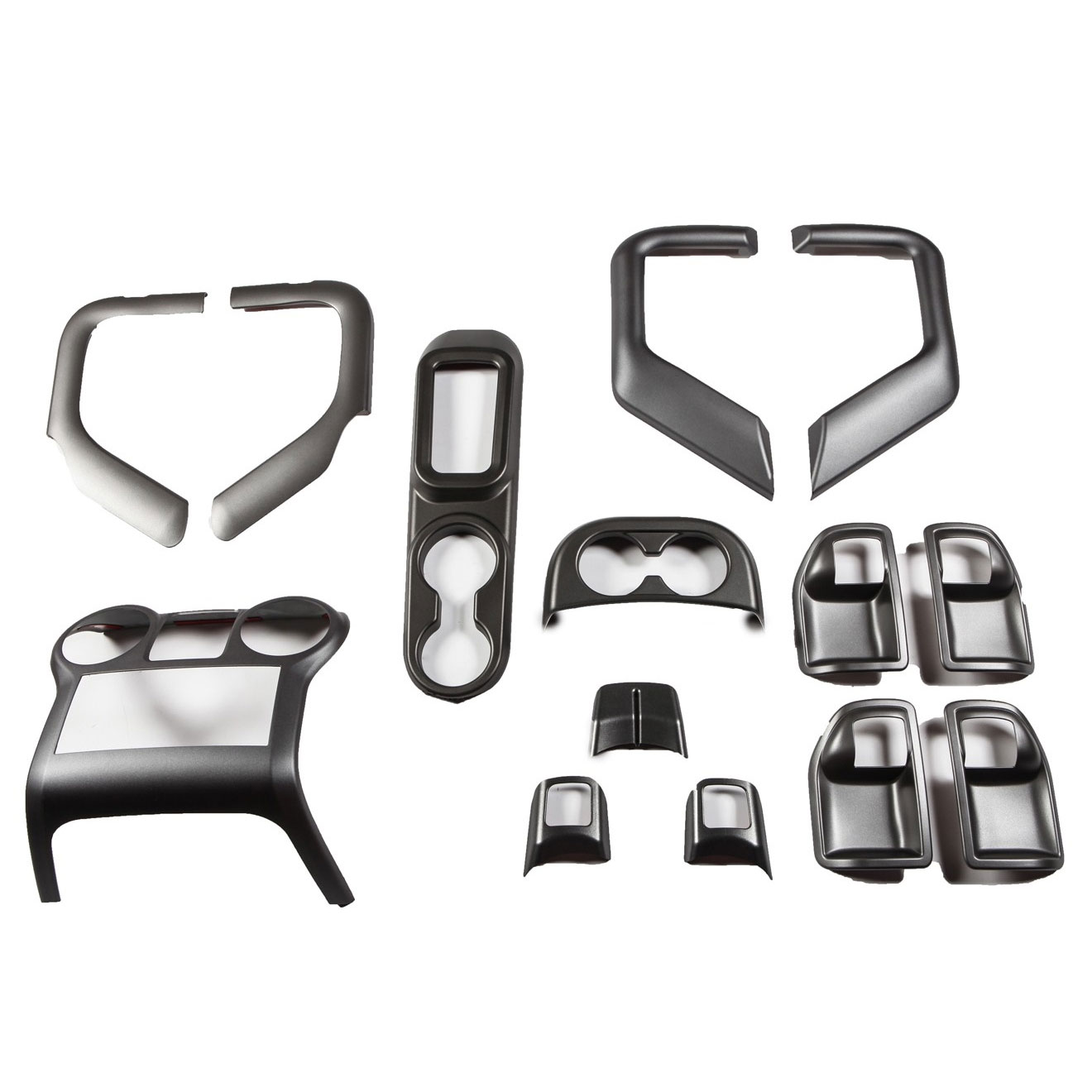 Interior Trim Accent Kit, Charcoal, 11-17 Wranglers 4 Doors Auto Trans