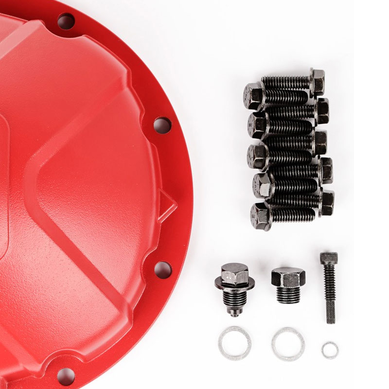 Dana 35 Aluminum Differential Cover, Red