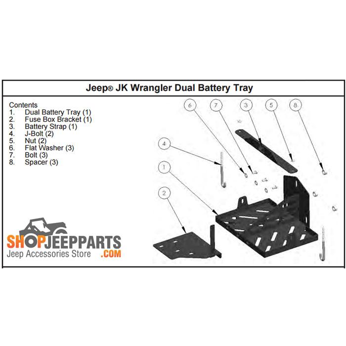 jeep jk dual battery tray