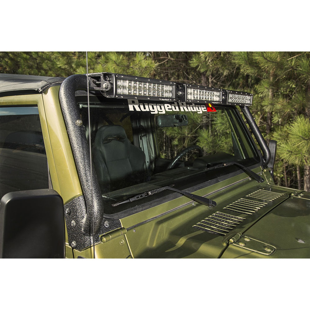 rugged ridge 1997 2006 wrangler windshield led. Black Bedroom Furniture Sets. Home Design Ideas