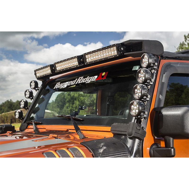 Jeep Jk Elite Fasttrack Windshield Light Bar 11232 50