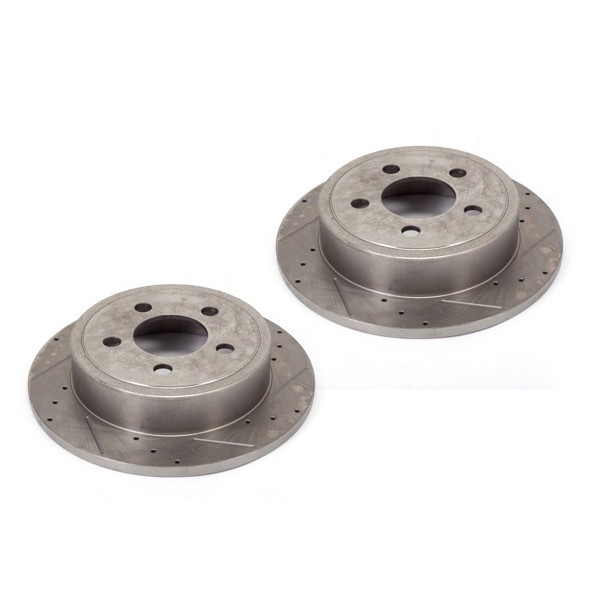 Alloy USA Front Slotted Brake Rotor Pair 07-15 Wranglers