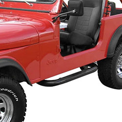Jeep CJ7 CJ8 Nerf Bars 76-86 Black Powder Coat