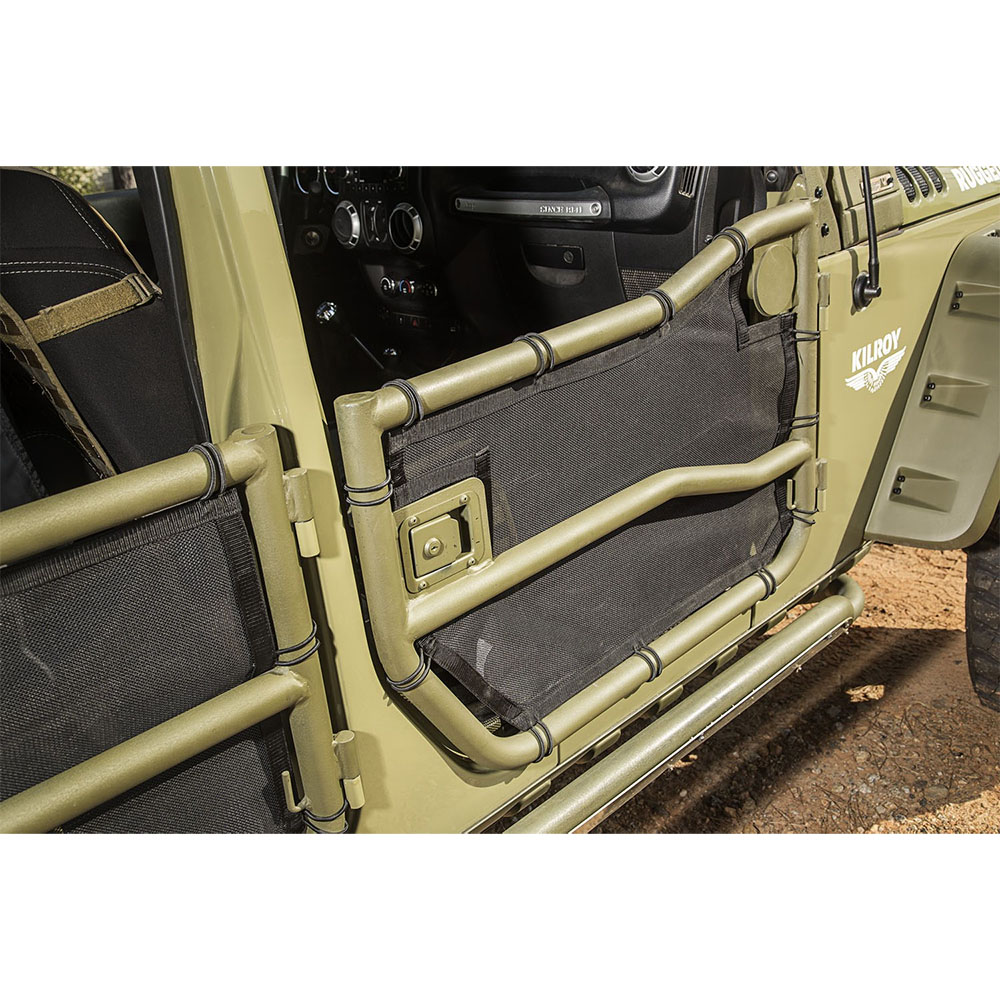 2007-2018 Wrangler JK Front and Rear Tube Door with Eclipse Covers