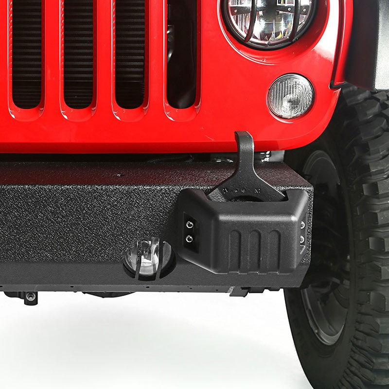 Front Bumper Base with Tow Point Covers, XHD, 07-17 Wranglers