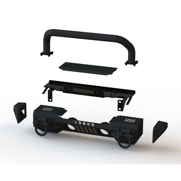 Front XHD Aluminum Winch Mount Front Bumper System