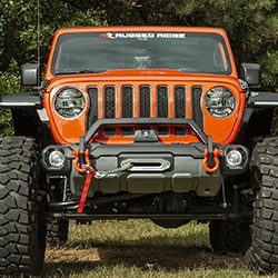 Jeep JL JT Venator Stubby Front Bumper with Overrider