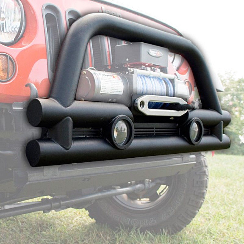 Front Stubby Tube Bumper with Winch Plate 07-17 Wrangler