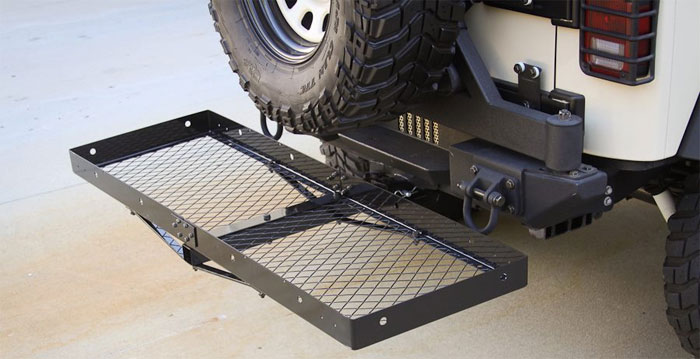 Wrangler Receiver Hitch with Cargo Rack