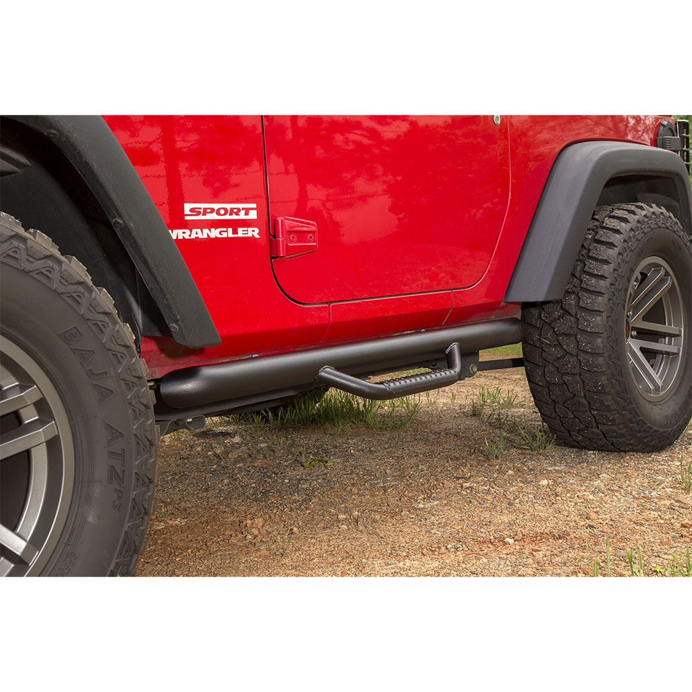 2012-2018 Jeep Wrangler Nerf Bars, 2 Doors JK