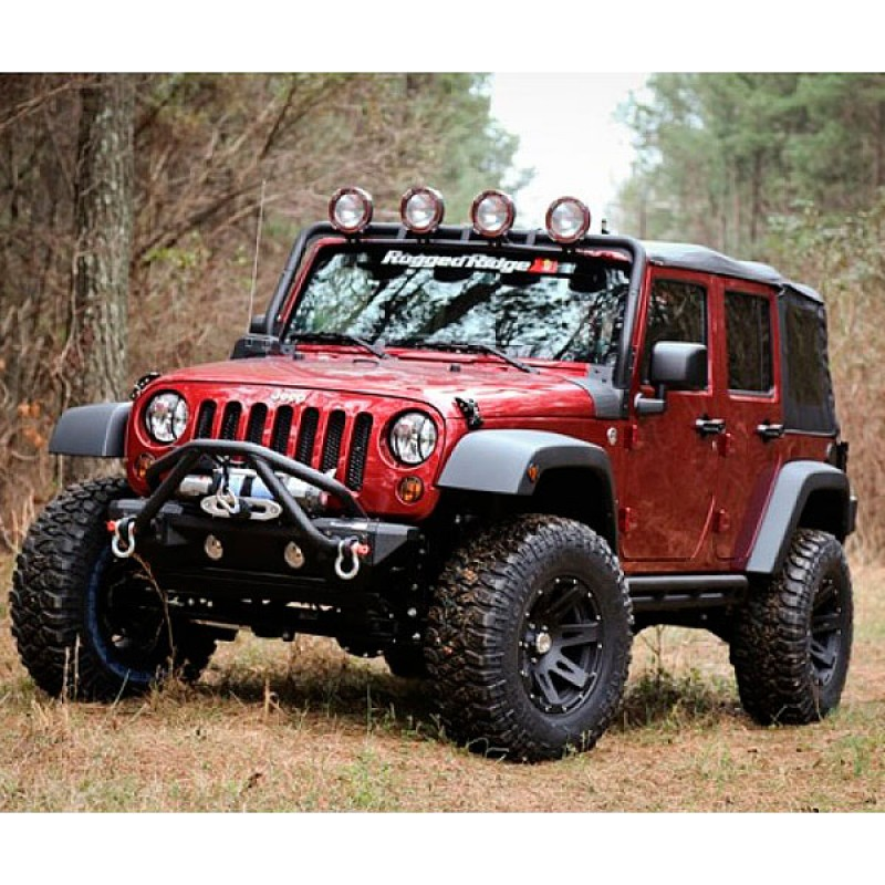 4 Piece Fender Flare Kit With Hardware 07-18 Wranglers