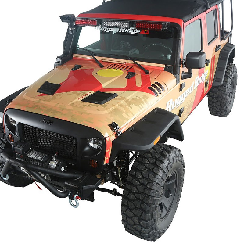 Hurricane Fender Flare Kit, Smooth, 07-17 Wranglers