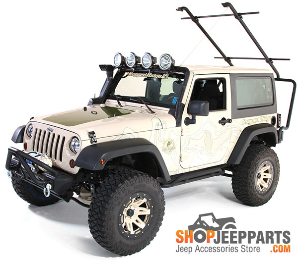 As An Added Bonus, The Forward Mounting Bar Acts As An Integrated Light Bar.  The Roof Rack System Accepts The Rugged Ridge Drop Down Light Bracket (PN  ...