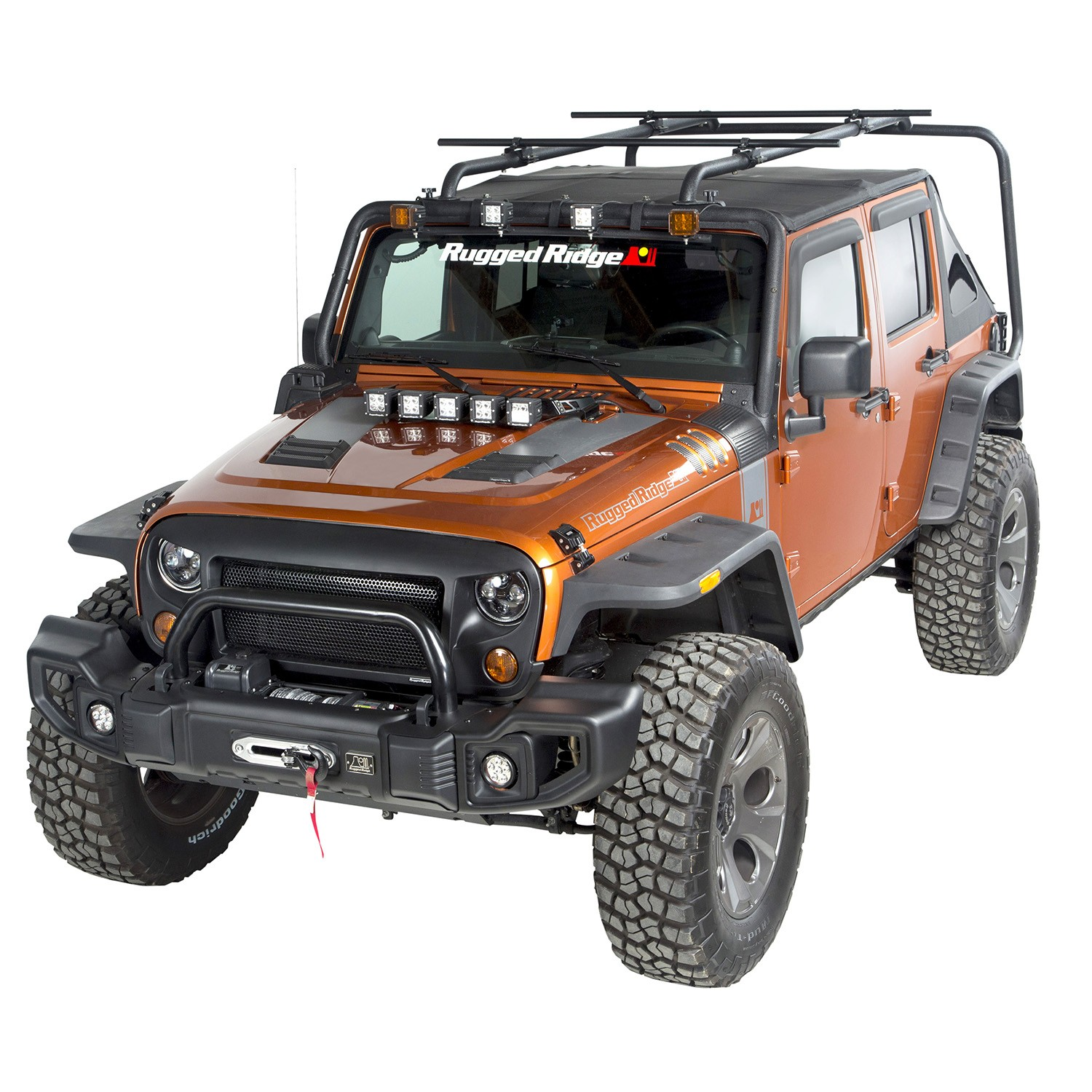 Sherpa Roof Rack Crossbars, Round, 56.5 inches, 07-15 Wrangler