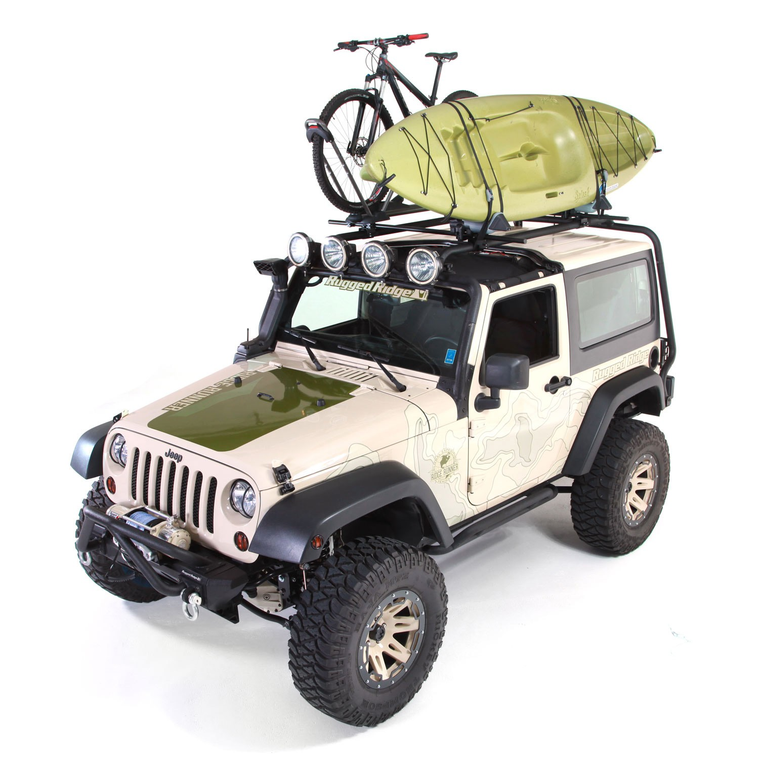 Sherpa Roof Rack Kit, 07-15 Wrangler, 2-Door