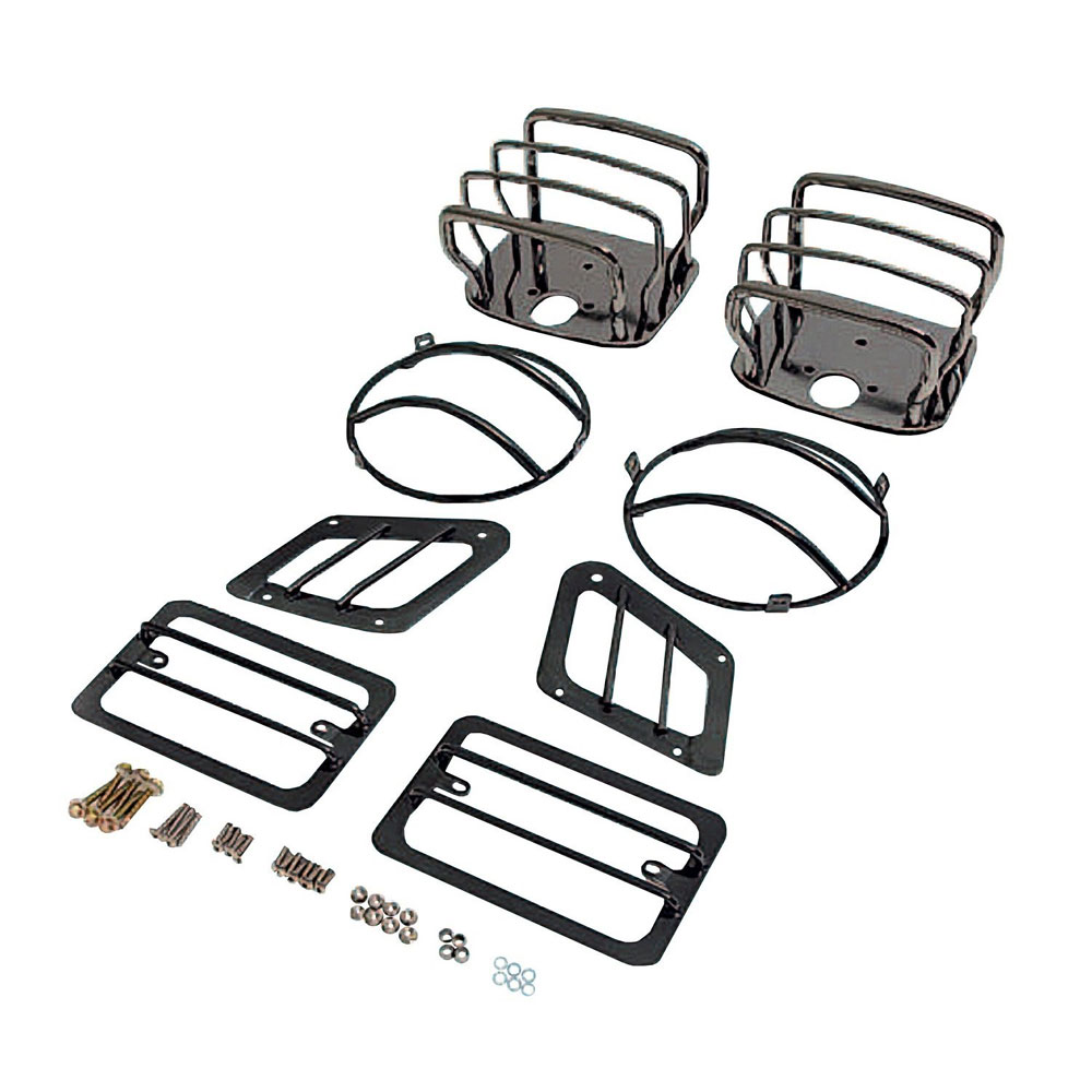 Euro Light Guards Kit 97-06 Wranglers Black