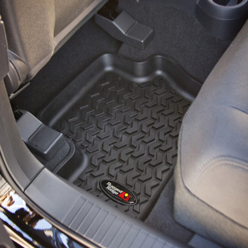 Rear Floor Liners, Black, 07-17 Compass Patriot
