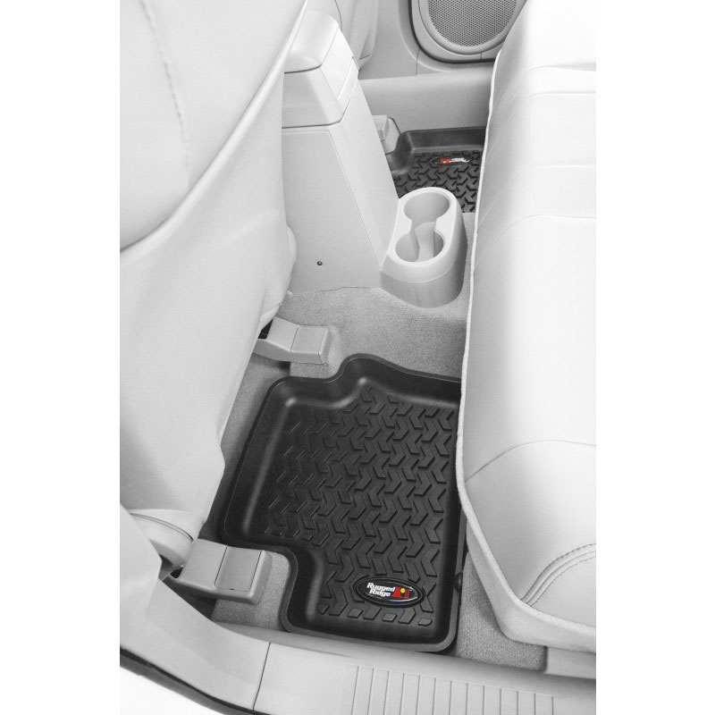 2nd Row Floor Liners, Black, 08-13 Liberty