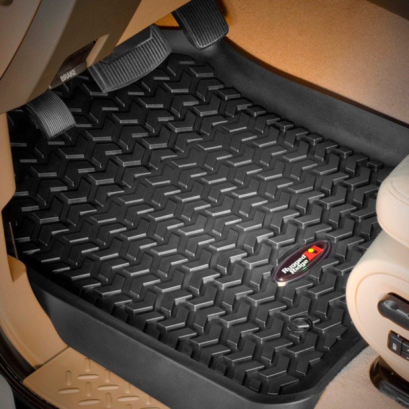 Floor Liners Kit, Black, 4 Pieces, 07-17 Compass Patriot