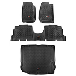 All Terrain Floor Liner Kit, Black, Jeep JK Wranglers 4-Door