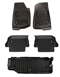 Jeep Wrangler JL Floor Liners Kit 2 Door Short Cargo