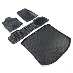 All Terrain Floor Liner Kit, Black, 2011-19 Grand Cherokee WK