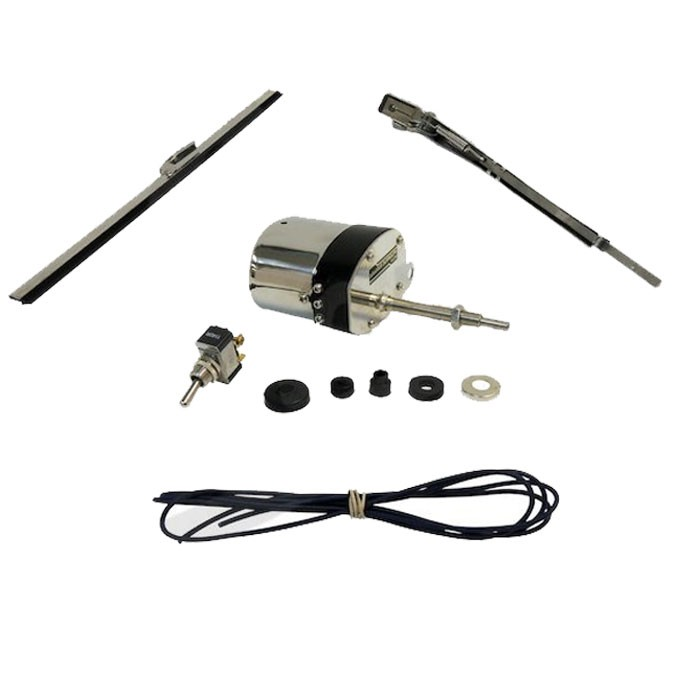 Wiper Motor Kit Early CJ, Stainless Steel