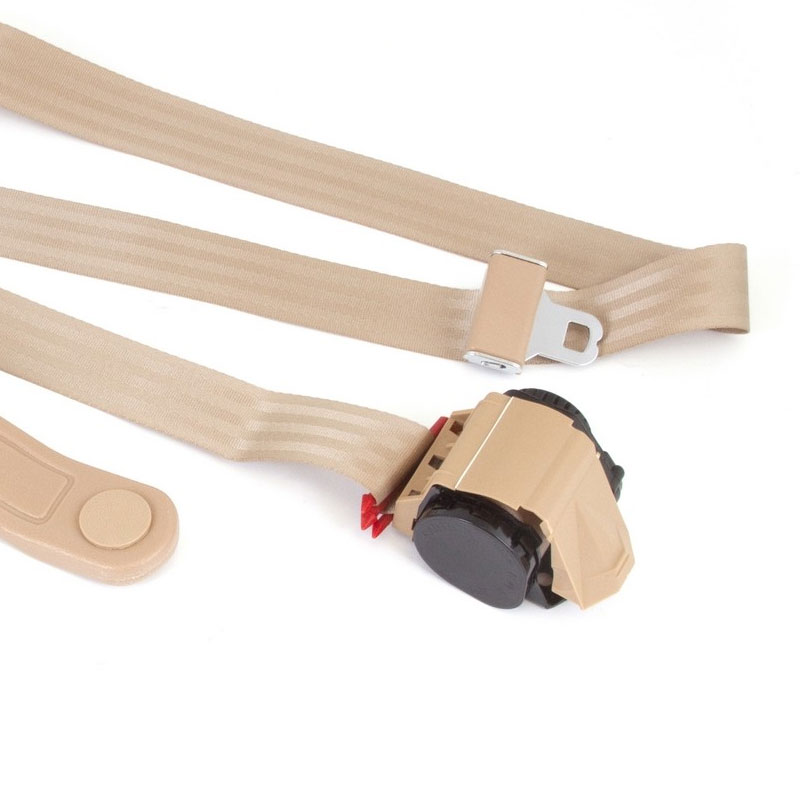 3-Point Retractable Seat Belt, Tan, Jeep CJ, Wranglers