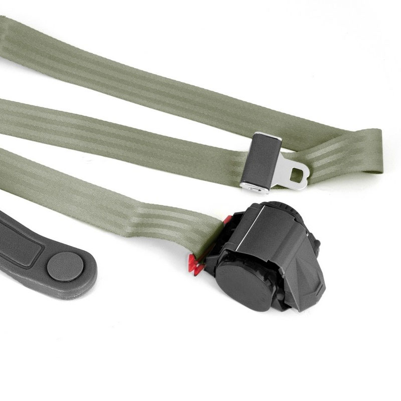 3-Point Retractable Seat Belt, Olive Drab, Jeep CJ, Wranglers