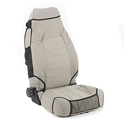 Fabric Seat Protector Pair 76-06 Jeep CJ Wranglers Grey