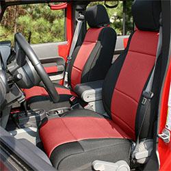 2007-10 Jeep JK Wrangler Seat Cover Kit 4 Doors Black Red