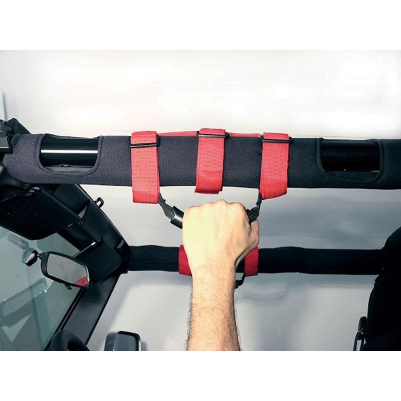Grab Handles for 2-3 inch Roll Bar, Red