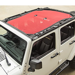 Eclipse Sun Shade, Red, Jeep Wranglers 4 Doors