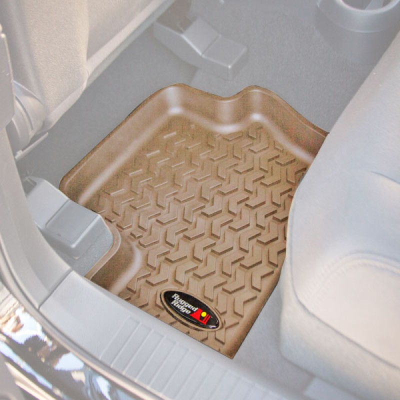 Rear Floor Liners, Tan, 07-17 Compass Patriot