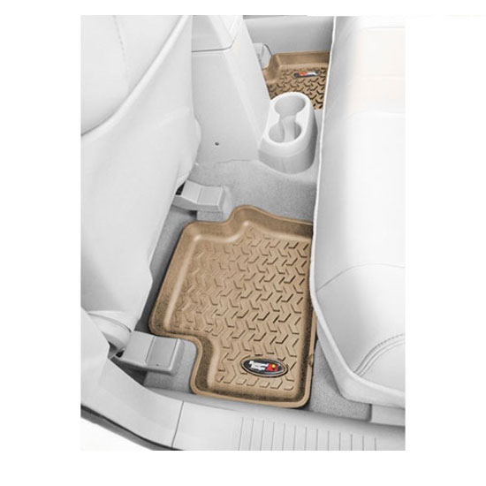 2nd Row Floor Liner, Tan, 08-13 Jeep Liberty