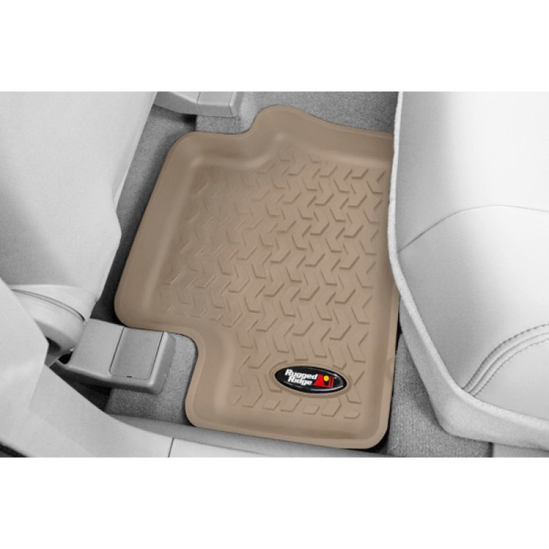 Floor Liners Kit, Tan, 4 Pieces, 07-17 Compass Patriot
