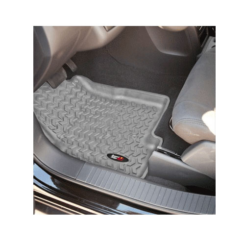 Front Floor Liners, Gray, 08-12 Jeep Liberty