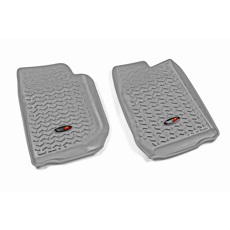 All Terrain Front Floor Liners, Gray, 07-15 Wranglers
